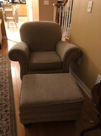 Oversized Comfy Chair and Ottoman Caledon