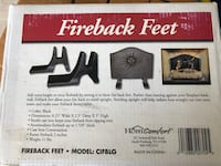 Fireback Feet for fireplace. New in box Baltimore, 21220