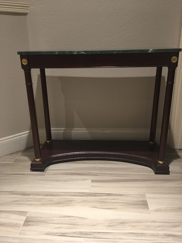 Awesome Console Table With Green Granite Top Gamerscity Chair Design For Home Gamerscityorg
