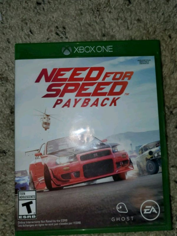 Used Xbox One Need Need For Speed Payback For Sale In Greeley Letgo