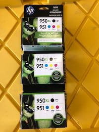 3 sets of HP printer cartridge combo packs retail for $105 each! Fairfield, 94534