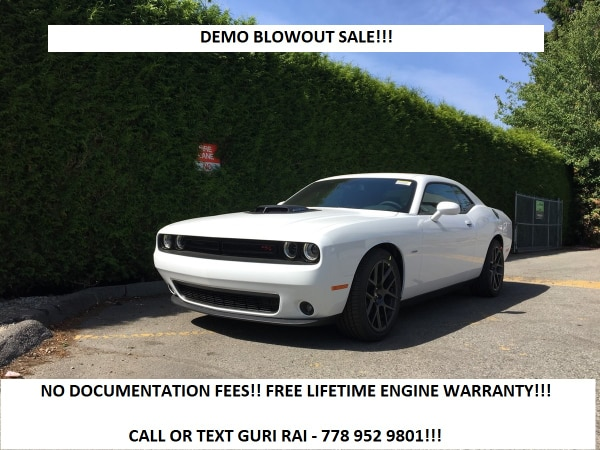 2017 Dodge Challenger R T Demo Blowout Sale Manual No Fees