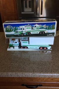 Hess truck and helicopter in box from 1995