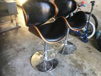 Bar chair/Stool chairs. Wood and leather Toronto, M3C 2J4