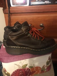 Pair of brown. Doc Martens leather bootssize 7 uk. Equals 10 us Iowa City, 52240