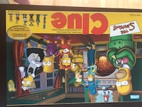 Simpsons clue board game Edmonton, T6E 0B9