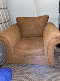 Brown comfy chair free delivery