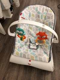 baby's white and gray Fisher Price bouncer Fallbrook, 92028
