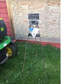 """""""Keepers of the Peace"""" metal signage. , L3B"""