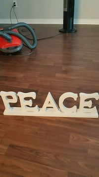 Wooden Peace Sign Langley
