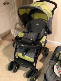 baby's black and green stroller Falls Church, 22041