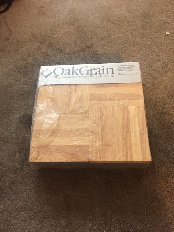 12 X Topflor Oak Grain Parquet Floor Tiles