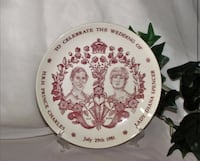 Royalty Collector Plate Prince Charles Princess Diana Collectible Plate
