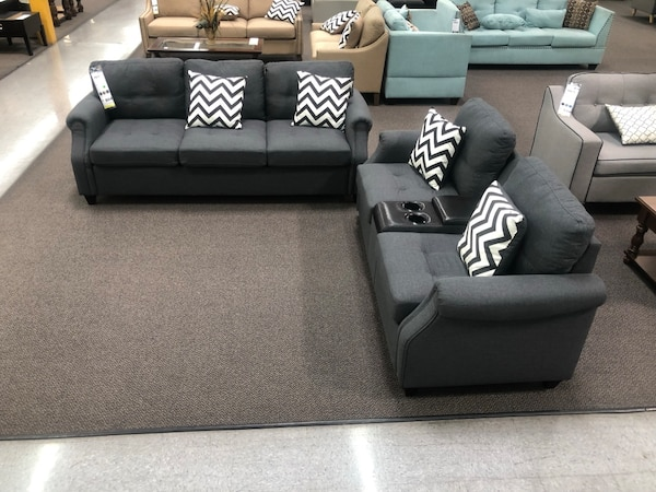 Only $50 Down!  New Couch Sofa Set With USB Port. Delivered unassembled in the Box !