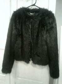 Stunning Faux Fur and Leather Marciano Guess Jacket***