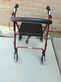 red and black rollator