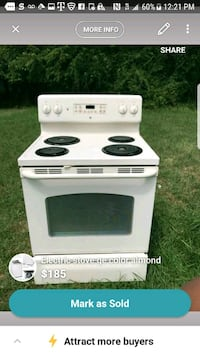 white and black electric coil range oven screenshot Temple Hills, 20748