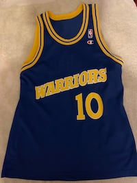 Blue and yellow golden state warriors Tim Hardaway jersey Salinas, 93905