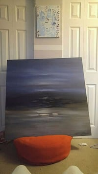 Large canvas painting Delta, V4E 1W6