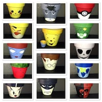 """4"""" hand painted pots  Tumwater, 98501"""