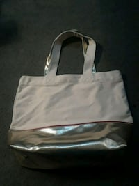 white and black leather tote bag Riverton, 62561