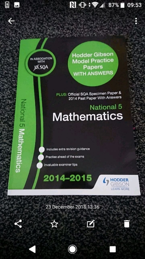 SQA National 5 Maths Textbook with Answers