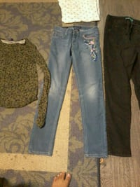 two blue and black denim jeans Little Rock, 72209