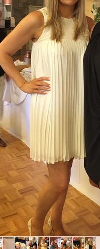 White dress with rhinestones, imperial - made in Italy, original price $300, worn once. Size large Toronto, M9C 2R1