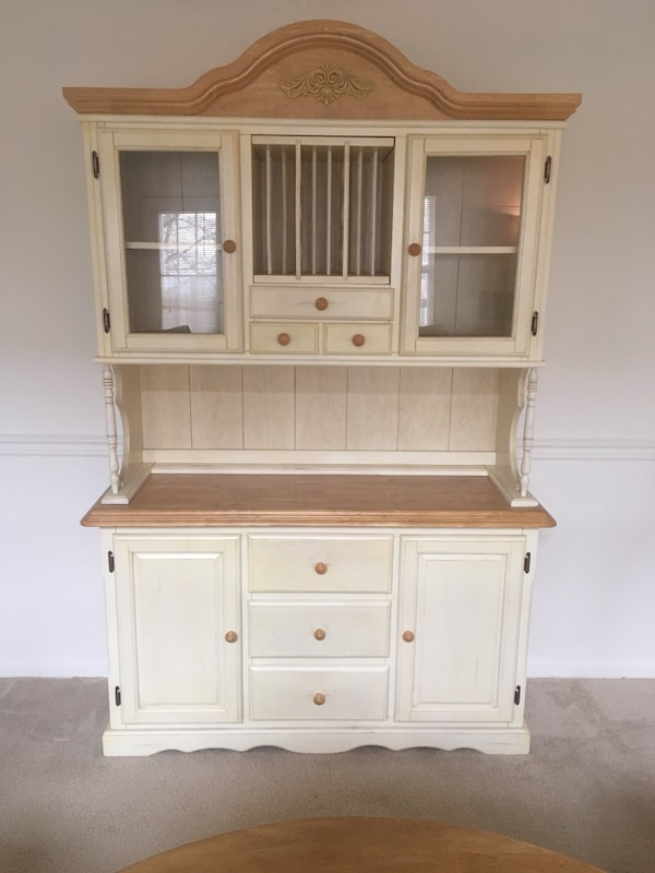 Country Credenza 2 Cabinets Of Storage With Wine Rack China Cabinets