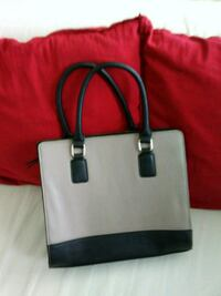 white and black leather tote bag Washington, 20001
