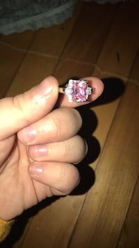 silver and pink gemstone ring Worcester, 01610