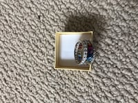 silver and diamond studded ring Calgary, T3K 0S7
