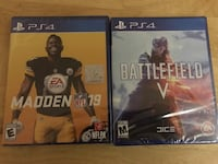 Brand New PS4 MADDEN 19 and BATTLEFIELD V  Silver Spring, 20902
