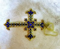 Metal Cross with Faux Stone Accents Gardendale
