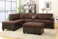 Chocolate sectional with ottoman available now  Bakersfield, 93306