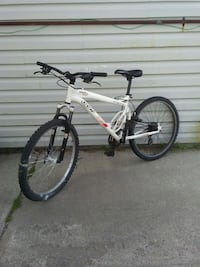 white and black full-suspension bike Calgary, T2A 1S4