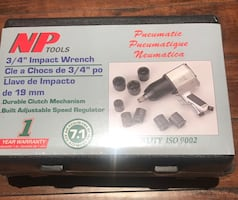 """Brand New NP Tools Pneumatic 3/4"""" Impact Wrench with 850 ft. lbs."""