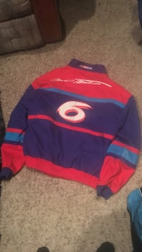 Red and blue jacket