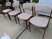 4 Solid TEAK Wood matching dining room chairs.  Chesapeake, 23322