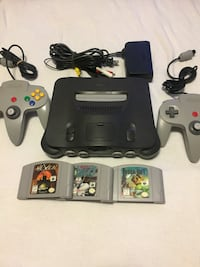 Nintendo 64, two Nintendo controllers, three games an all hookups needed -$100- Regina, S4R 1V8
