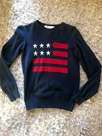 Blue and red crew-neck long-sleeved shirt Lancaster, 93534