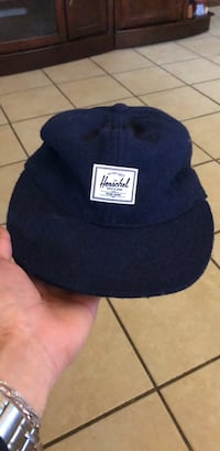 black and blue fitted cap Goshen, 46526