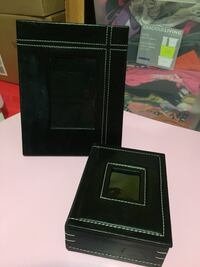 Black leather picture frame n box 1956 km