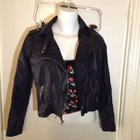 Black leather jacket Spokane