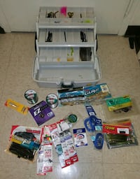 A tackle box with new fishing equipment. Providence, 02903