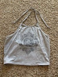 Grey crop top with string  Lincoln, 68512