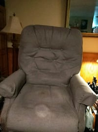 gray suede recliner sofa chair West Columbia, 29170