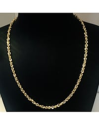 14K Gold 18 Inch Semisolid Rope Chain Necklace Cleveland, 44144
