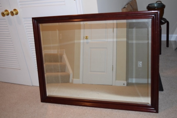 Large All Wood Mirror