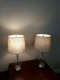 two white and brown table lamps Burlington, L7L 7C9